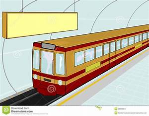 Subway station stock vector. Image of railroad, public ...