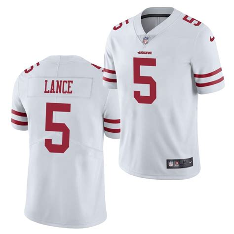 Nuggets on trey lance, jalen hurd, alfredo gutiérrez, fan access fans should get their first glimpse of trey lance and the 49ers at training camp in a couple months San Francisco 49ers #5 Trey Lance Jersey White 2021 ...