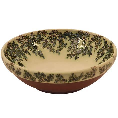 Large Decorative Ceramic Bowls  Olive Leafs