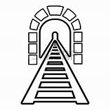 Clipart Bridge Tunnel Rainbow Stone Clipartmag Vector 1800 sketch template