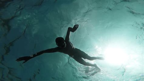 Boat Sinking Gopro by Attractive Underwater Treading Water Together