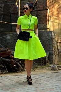 Neon Crop Top Aj Store Tops Neon Midi Skirt Aj Store