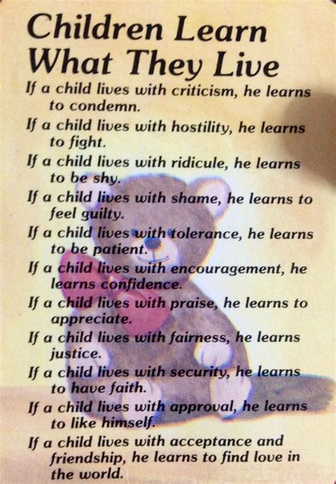 children learn what they live children 878 | 8d9c91d1c0ab8d075fc82558a983f229