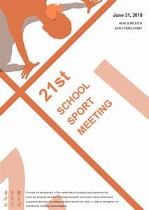 School Sport Meeting Poster