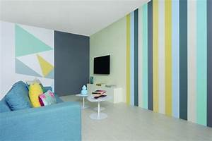 Streifen An Die Wand Malen Beispiele : 65 wand streichen ideen muster streifen und struktureffekte ~ Markanthonyermac.com Haus und Dekorationen