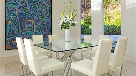 shimmering square glass dining room tables home