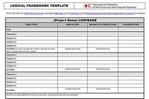 logical framework template planning monitoring With monitoring and evaluation template word