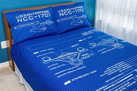 star trek schematic duvet cover  pillow cases