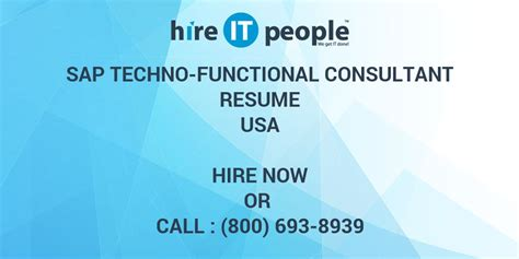 asap full form in sap sap techno functional consultant resume hire it people