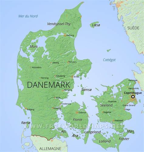 Ambassade de danemark en france. Carte du Danemark