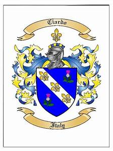 Family Coat Of Arms    Family Crest In Large Print  Poster