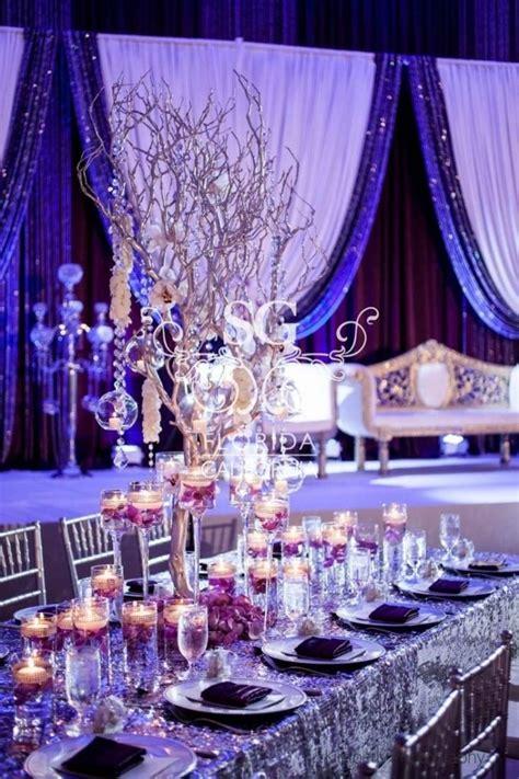 royal blue  gold wedding party decoration theme