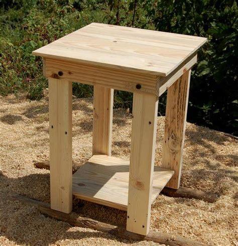 diy wood end table diy pallet side tables nightstands end tables pallet