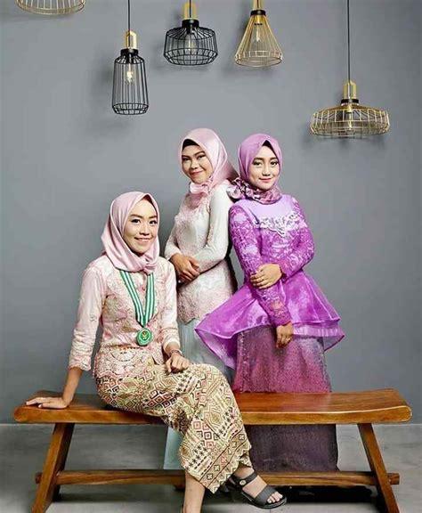 inspirasi kebaya hijab kekinian  acara wisuda model