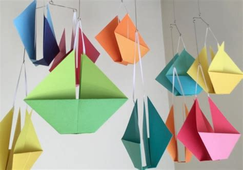Origami Boat Mobile by Origami Sailboat Mobile Aftcra