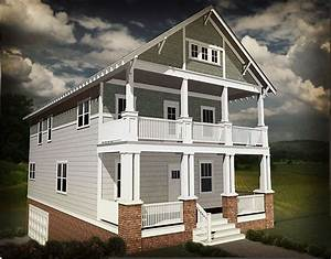 Northwest House Plan With Stacked Porches And Flex Space