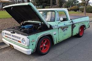 1971 Dodge D100 Sweptline  Shop Truck  Patina  Rat Rod
