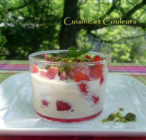 dessert express verrine de fraises au coulis de cr 232 me glac 233 e cuisine et couleurs