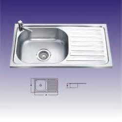 shape single bowl stainless steel kitchen sinks with drainboard