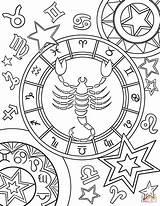 Zodiac Coloring Pages Signs Sign Printable Scorpius Signos Star Leo Para Animals Chakras Colorings Books Mandalas Da Imagens Supercoloring Comments sketch template