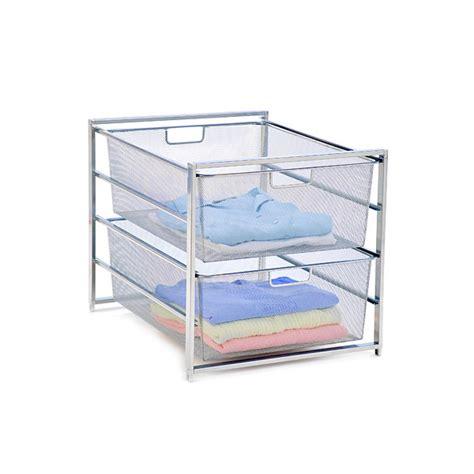 platinum elfa mesh 2 drawer unit the container store