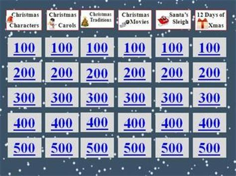 christmas holiday jeopardy  scionthefly teachers pay