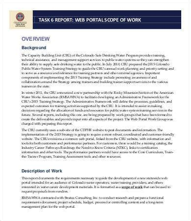 scope  work template   documents