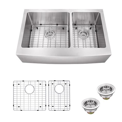 kitchen sink with apron schon all in one apron front stainless steel 36 in 6038
