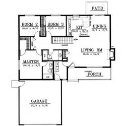 3 bedroom house plans one story ranch style house plans 1314 square foot home 1 story