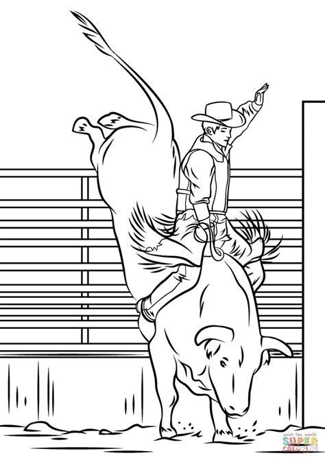 image result  rodeo drawings easy bull riding horse coloring pages animal coloring pages