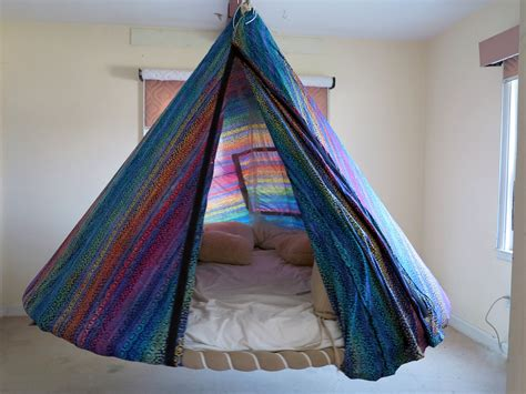 Bedroom Hammock Stand by Batik Fabric Tent For Floating Bed Indoor Or Outdoor