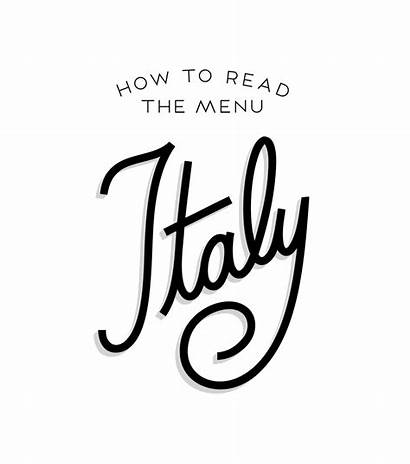 Lettering Menu Italy Read Inspiration Fonts Typography