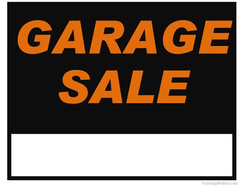 sale signs printable printable garage sale sign