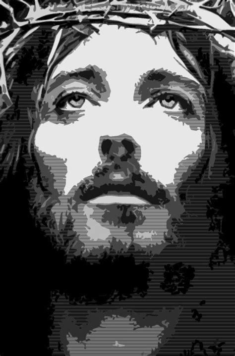 Abstract Jesus Black And White by Picture Of Jesus By Krishi We Pray This So That