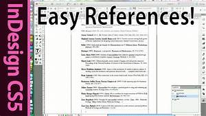 Indesign - Easy Reference List And Citation Of Scientific Papers - Cs5 Tutorial  Part 8