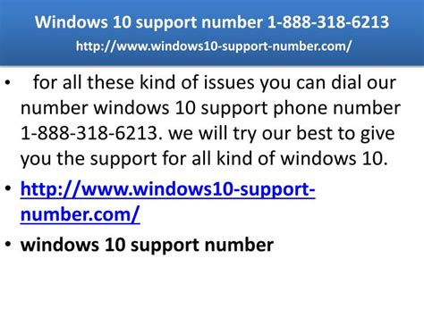 windows help desk phone number ppt windows 10 support number 1 888 318 6213 powerpoint