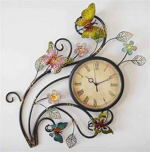 metallic wall clock dream interior decor With what kind of paint to use on kitchen cabinets for outdoor metal butterfly wall art