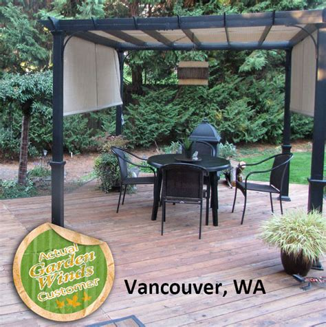 lowes garden treasures  ft pergola replacement canopy