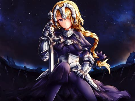 desktop wallpaper art ruler jeanne darc fategrand