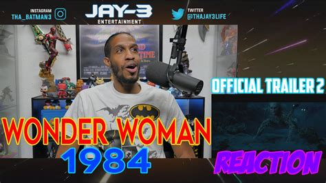 Wonder Woman 1984 Official Trailer 2 Reaction - YouTube