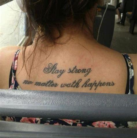unfortunate tattoos  misspelled words barnorama