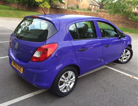 Unique Vauxhall Corsa 1 2 Purple 5door With Full Dealer