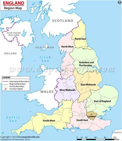 england regions map  london south west