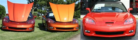 corvettes daytona sunset orange metallic left