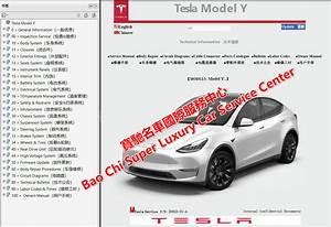 Tesla Model Y Service Manual  U0026workshop Repair Manual