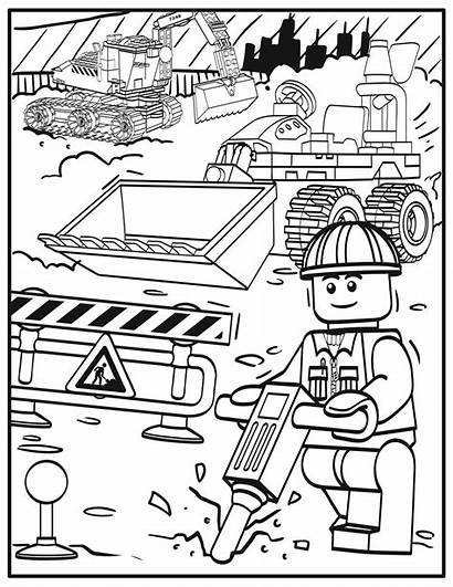Lego Coloring Pages Party Construction Printable Zone