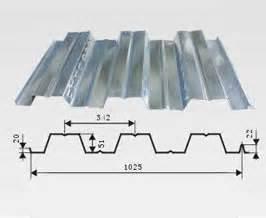 galvanized steel floor decking sheet used as floor of