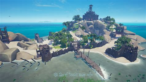 Rowboat Locations Sea Of Thieves by Sea Of Thieves Map Fort Island Keep