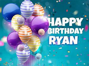 ryan, happy, birthday, balloons