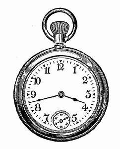 Digital Stamp Design: Vintage Timepieces Pocket Watch ...